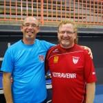 Ludovic Delrue et Régis Bienaimé, vainqueur et finaliste de la consolante.