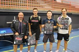 De gauche à droite: Gallet JC, Yufera Fabrice, Huang QiWen et Simon Christophe.