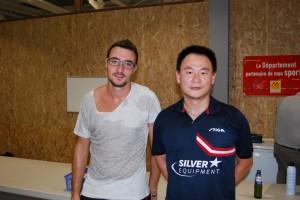 Huang Qiwen et Quinternet Eric, finalistes du tournoi