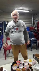 J Claude et son nouveau maillot.