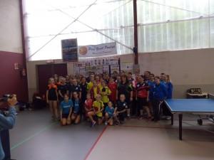 Les participantes à la journée de championnat féminin
